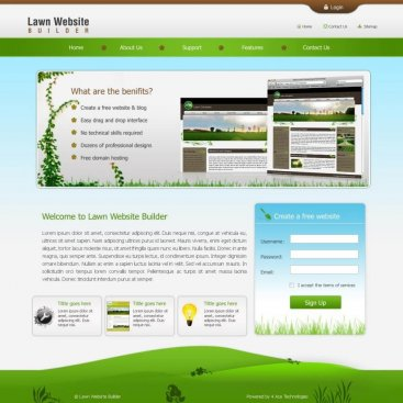 Lawn Website Builder